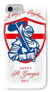 Happy St George A Day For England Greeting Card IPhone Case by Aloysius Patrimonio