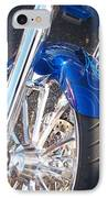 Harley Close-up Blue Flame  IPhone Case