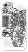 Hart-parr 12-24 E IPhone Case by Ken Nickle