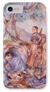 Harvesters Breakfast IPhone Case by Pierre-Auguste Renoir