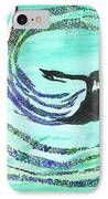He Comes In The Wind IPhone Case by Angela Pelfrey