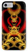 Heart In Chains IPhone Case by Sandy Keeton