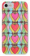 Hearts A'la Stained Glass IPhone Case