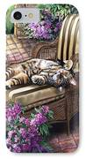 Hello From A Kitty IPhone Case by Regina Femrite