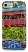 Helmick Mill Or Island Run Covered Bridge  IPhone Case