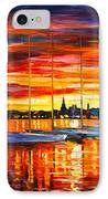 Helsinki Sailboats At Yacht Club IPhone Case by Leonid Afremov