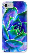 Hens And Chicks Series - Touches Of Blue  IPhone Case