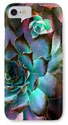 Hens And Chicks Series - Verdigris IPhone Case by Moon Stumpp