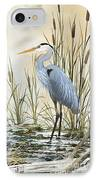 Heron And Cattails IPhone Case