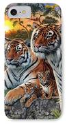 Hidden Images - Tigers IPhone Case by Steve Read