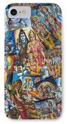 Hindu Deity Posters IPhone Case by Tim Gainey