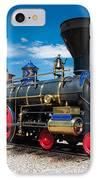 Historic Jupiter Steam Locomotive - Promontory Point IPhone Case by Gary Whitton