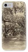 Historic Lane Antique Sepia IPhone Case