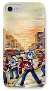 Hockey Daze IPhone Case by Carole Spandau