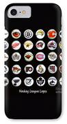 Hockey League Logos Bottle Caps IPhone Case