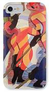 Hockey Players IPhone Case by Ernst Ludwig Kirchner