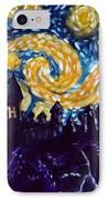 Hogwarts Starry Night IPhone Case by Jera Sky