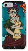 Holding Diegito IPhone Case by Victoria De Almeida