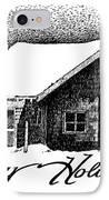 Holiday Barn IPhone Case by Joy Bradley