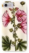 Hollyhocks IPhone Case by Elizabeth Blackwell