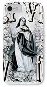 Holy Virgin Pray For Us IPhone Case by Bill Cannon