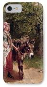 Home From Market IPhone Case by Edgar Bundy