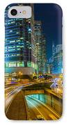 Hong Kong Highway At Night IPhone Case