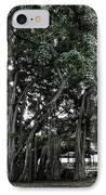 Honolulu Banyan Tree IPhone Case by Daniel Hagerman