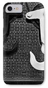 Hook Me Up Bw IPhone Case by Susan Candelario