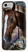Horse In A Box Stall - Horse Stable IPhone Case
