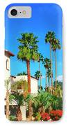 Hotel California Palm Springs IPhone Case by William Dey