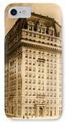Hotel Pontchartrain Detroit 1910 IPhone Case by Mountain Dreams