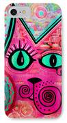 House Of Cats Series - Catty IPhone Case by Moon Stumpp