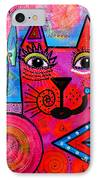 House Of Cats Series - Tally IPhone Case by Moon Stumpp