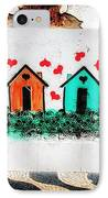 House On The Wall IPhone Case by John Rizzuto