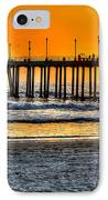 Huntington Beach Sunset IPhone Case by Jim Carrell