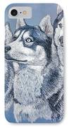Huskies By J. Belter Garfunkel IPhone Case