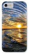 Hypnotic Sunset At Israel IPhone Case by Ron Shoshani