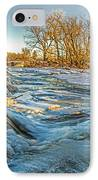 Ice Falls 2 IPhone Case by Baywest Imaging