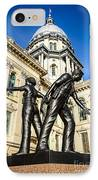 Illinois Police Officers Memorial In Springfield IPhone Case by Paul Velgos