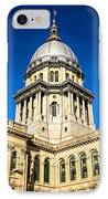 Illinois State Capitol Building In Springfield IPhone Case by Paul Velgos
