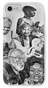 In Praise Of Jazz V IPhone Case by Steve Harrington