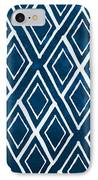 Indgo And White Diamonds Large IPhone Case
