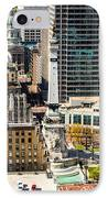 Indianapolis Aerial Picture Of Monument Circle IPhone Case