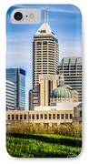 Indianapolis Cityscape Downtown City Buildings IPhone Case by Paul Velgos