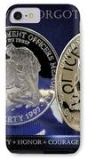 Indianapolis Metro Police Memorial IPhone Case by Gary Yost