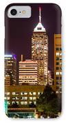 Indianapolis Skyline At Night Picture IPhone Case by Paul Velgos