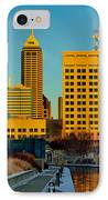 Indianapolis Skyline Dynamic IPhone Case by David Haskett