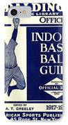 Indoor Base Ball Guide 1907 II IPhone Case by American Sports Publishing