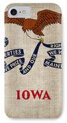Iowa State Flag IPhone Case by Pixel Chimp